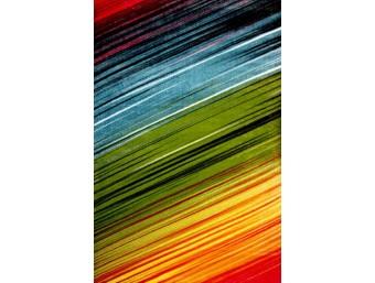 Covor Kolibri Albastru/Verde/Galben Dreptunghi - 11009/130