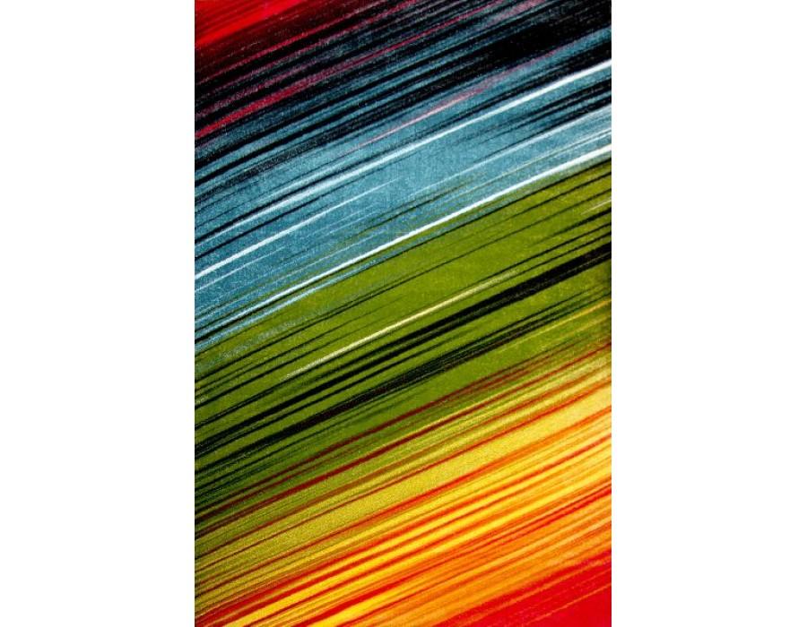 Covor Kolibri Albastru/Verde/Galben Dreptunghi – 11009/130