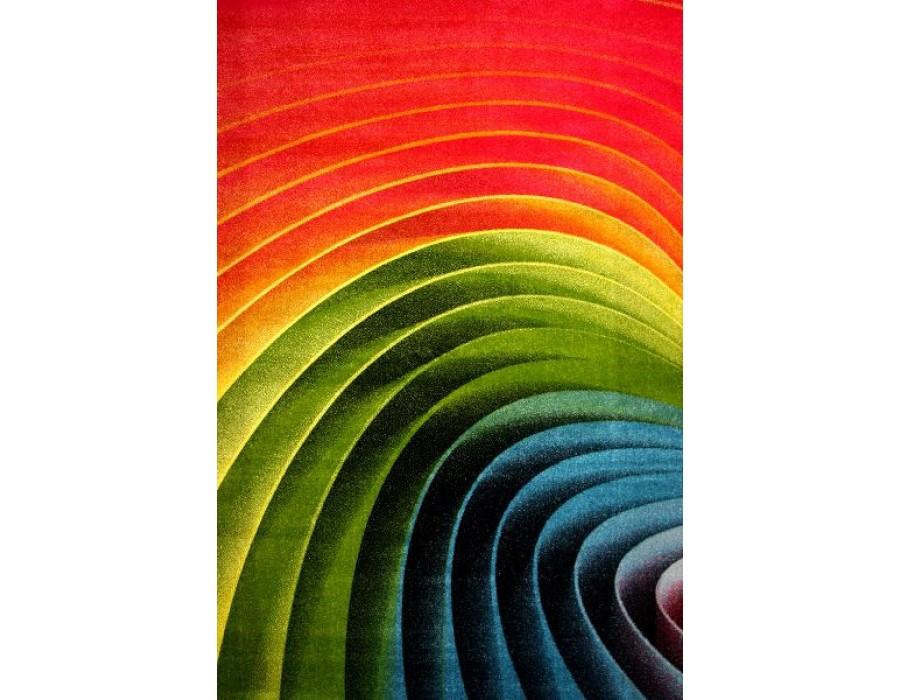 Covor Kolibri Rosu/Verde/Albastru Dreptunghi - 11006/130