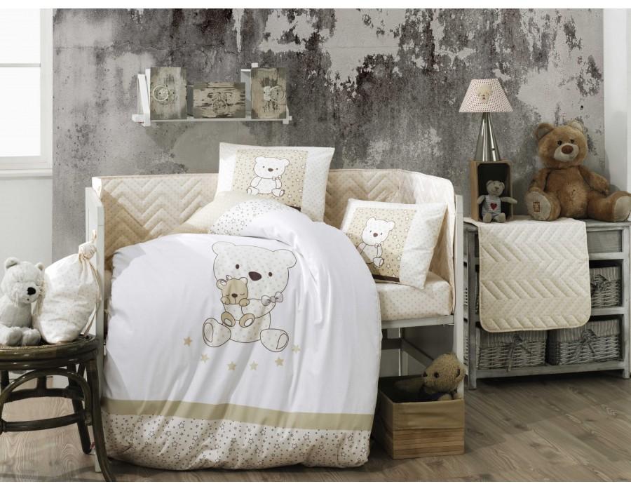 Lenjerie de pat copii / bebe Bumbac 100% Bonita Gold
