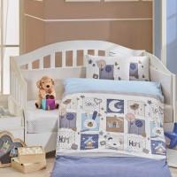 Lenjerie de pat copii Bumbac 100% Sweethome Blue