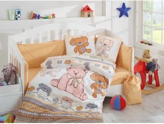 Lenjerie de pat copii Bumbac 100% Tombik Yellow