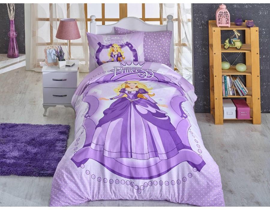Lenjerie de pat o Persoana Bumbac 100% Ranforce Princess Lilac