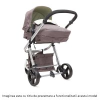 Carucior copii 3 in 1 C1 Grey and Pink