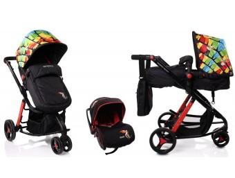 Carucior copii 3 in 1 C3 Cangaroo Multicolor