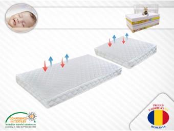 Set 2 saltele copii Tip 2 Confort Fibra de Cocos 120x70x10 cm + 50x70x10 cm