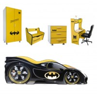 Pachet Dormitor Complet Copii Bat Man Mic - 2-8 ani
