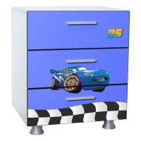 Pachet Dormitor Complet Copii Fulger 3D Blue Mare - 2-12 ani