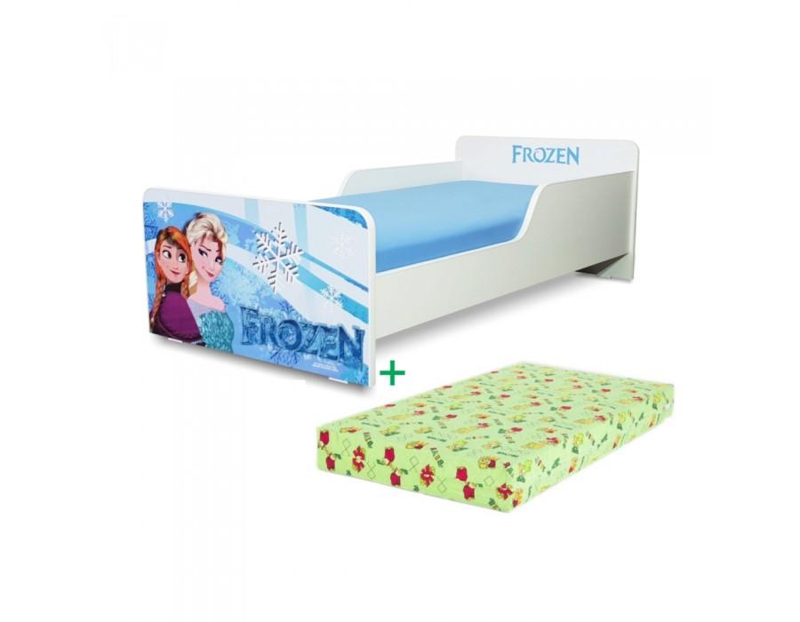 Pachet Pat copii Start Frozen – Mic + Saltea Spuma 140x70x12 - 2-8 ani