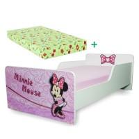 Pachet Pat copii Start Minnie – Mic + Saltea Spuma 140x70x12 - 2-8 ani