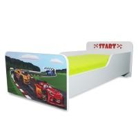 Pachet Pat copii Start Racing – Mic + Saltea Spuma 140x70x12 - 2-8 ani