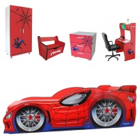 Pachet Dormitor Complet Copii Spider Man Mare - 2-12 ani