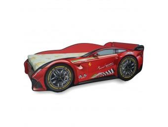 Pachet Pat Copii Ferrari Tech Mic + Saltea Spuma 140x70x12 - 2-8 ani