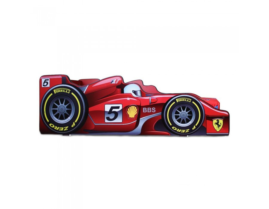 Pachet Pat Copii Formula 1 Mare + Saltea Spuma 180x90x12 - 2-14 ani