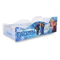 Pachet Pat Copii Frozen Mare + Saltea Spuma 160x80x12 - 2-12 ani