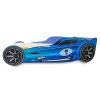 Pachet Pat Copii Hot Wheels Blue Mic + Saltea Spuma 140x70x12 - 2-8 ani