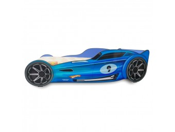 Pat Copii Hot Wheels Blue Mare 160x80 - 2-12 ani
