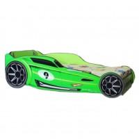 Pachet Pat Copii Hot Wheels Green Mare + Saltea Spuma 160x80x12 - 2-12 ani