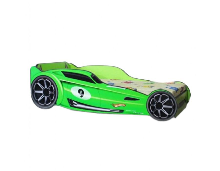 Pat Copii Hot Wheels Green Mic 140x70 - 2-8 ani