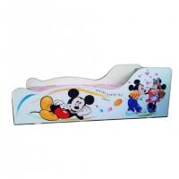Pachet Pat Copii Mickey & Minnie Mare + Saltea Spuma 160x80x12 - 2-12 ani