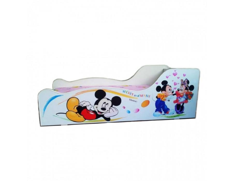 Pachet Pat Copii Mickey & Minnie Mic + Saltea Spuma 140x70x12 - 2-8 ani
