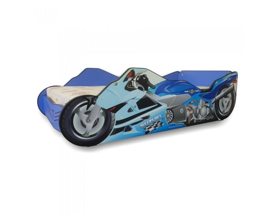Pat Copii Moto Blue Mic 140x70 - 2-8 ani