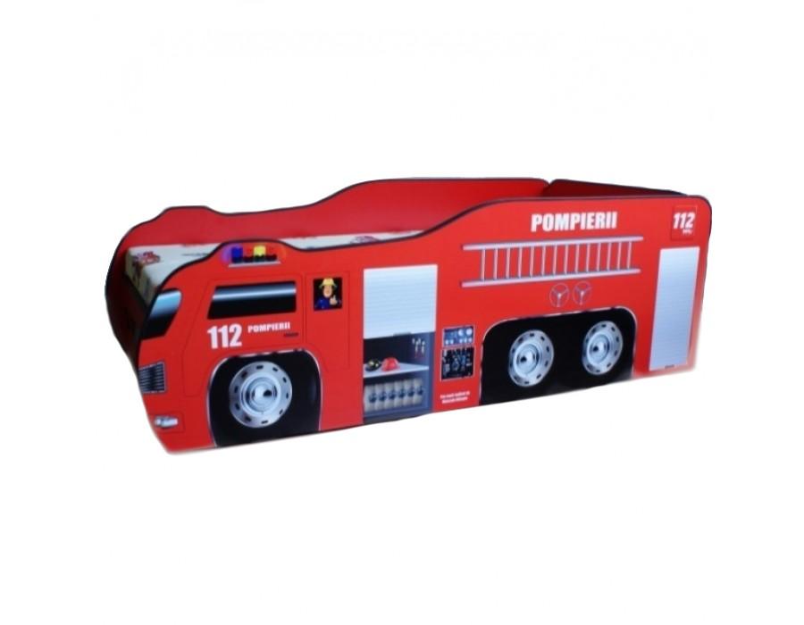 Pat Copii Pompierii 1 Mic 140x70 - 2-8 ani