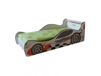 Pachet Pat Copii Racer Mic + Saltea Spuma 140x70x12 - 2-8 ani