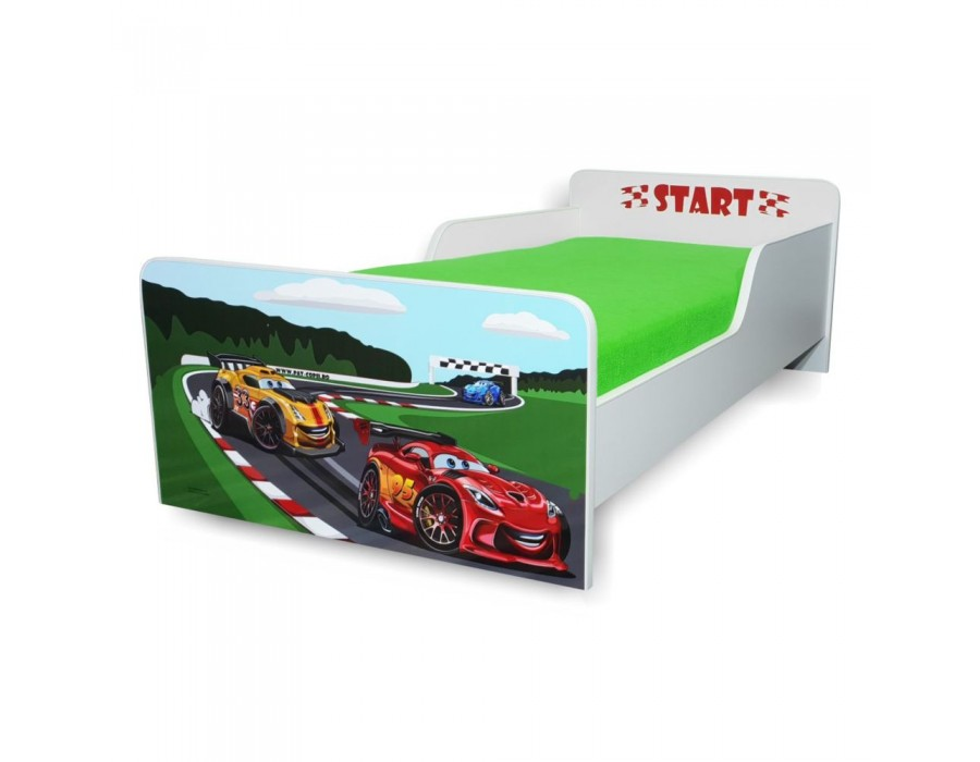 Pat copii Start Racing – Mic 140x70cm - 2-8 ani