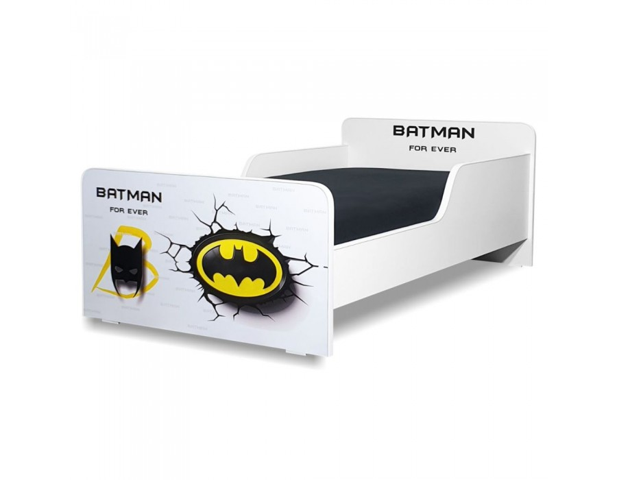 Pat copii Start Batman - Mic 140x70cm - 2-8 ani