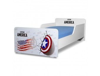 Pat copii Start Captain America - Mare 160x80cm - 2-12 ani