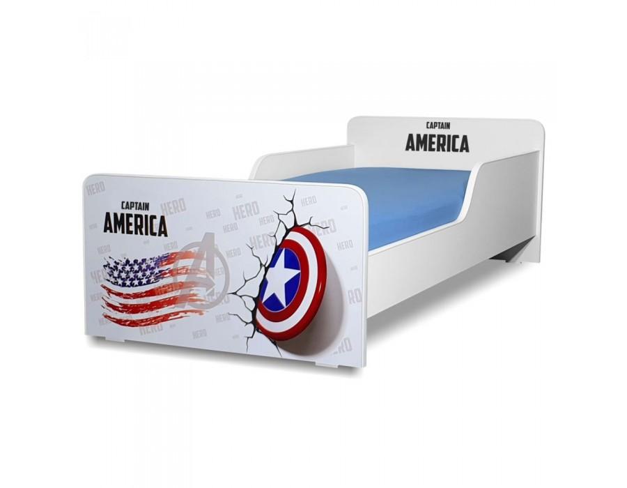 Pat copii Start Captain America - Mare 160x80cm - 2-12 ani