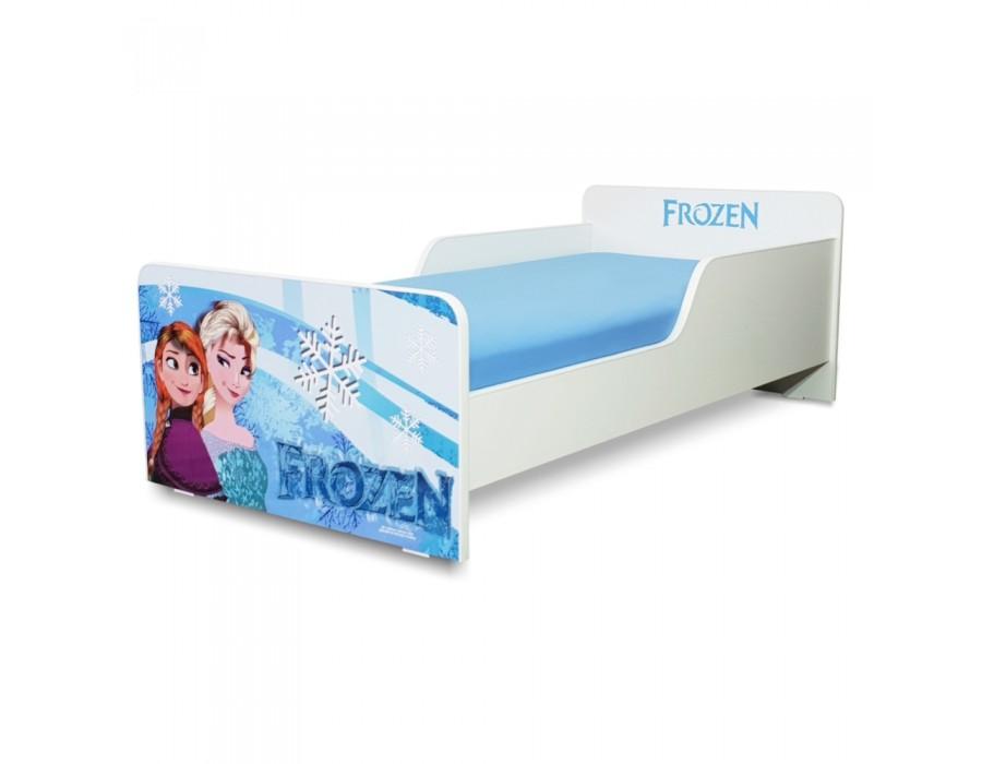 Pat copii Start Frozen - Mare 160x80cm - 2-12 ani