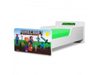 Pat copii Start Minecraft - Mare 160x80cm - 2-12 ani