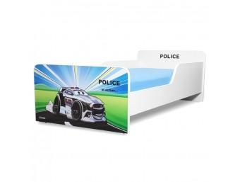 Pat copii Start Police - Mare 160x80cm - 2-12 ani