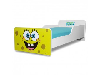 Pat copii Start Sponge Bob - Mic 140x70cm - 2-8 ani