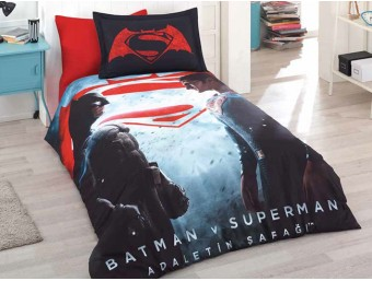 Lenjerie de pat copii Bumbac 100% Batman vs. Superman