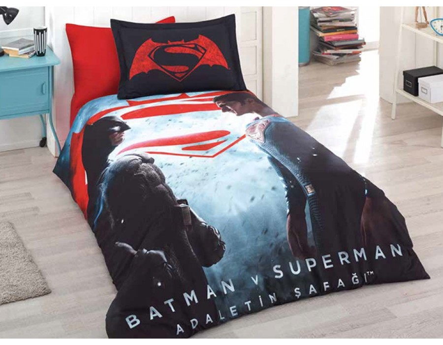Lenjerie de pat copii Bumbac 100% Batman vs. Superman