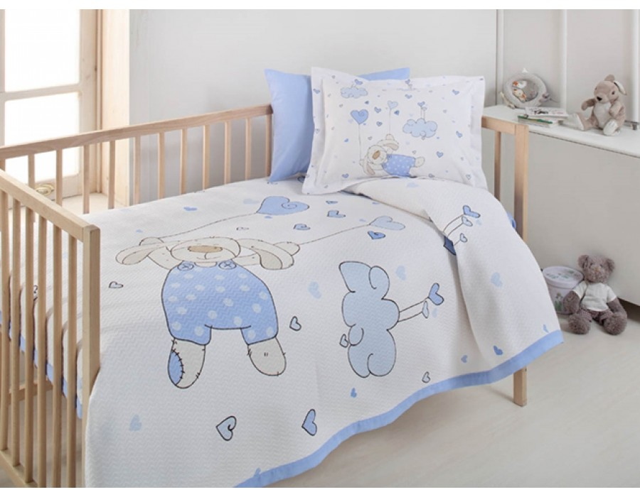 Lenjerie de pat copii Bumbac 100% Flying Bear