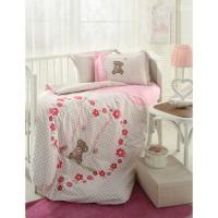 Lenjerie de pat copii Bumbac 100% Heart Bear